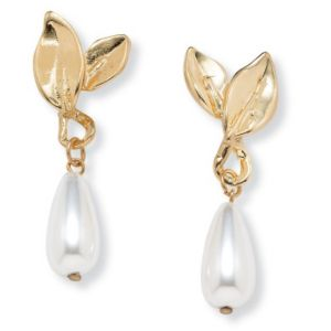 Sim. Pearl Teardrop Earrings
