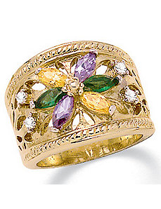 Multi-Crystal Ring by PalmBeach Jewelry