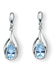 Blue Topaz Earrings by PalmBeach Jewelry