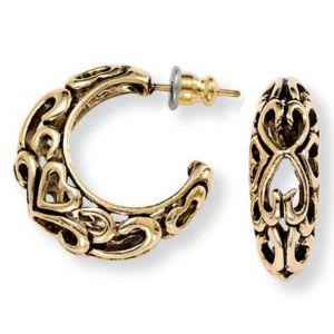 Antiqued Hoop Earrings