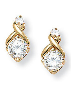 Cubic Zirconia Earrings by PalmBeach Jewelry
