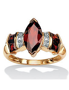 Garnet 10k Gold Ring by PalmBeach Jewelry