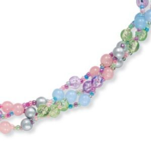 Pastel Lucite Necklace 30""