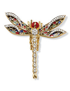 Crystal Dragonfly Pin by PalmBeach Jewelry