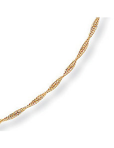 10k Gold Rope 1.3 mm, 20