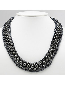 Black Lucite Necklace by PalmBeach Jewelry