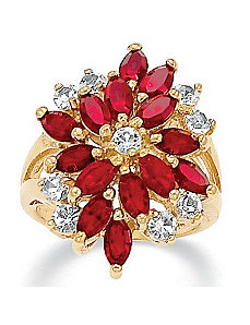 Crystal Ring by PalmBeach Jewelry