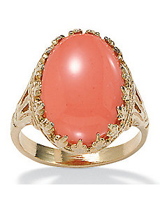 Simulated Coral Ring by PalmBeach Jewelry