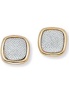 Tutone Earrings by PalmBeach Jewelry