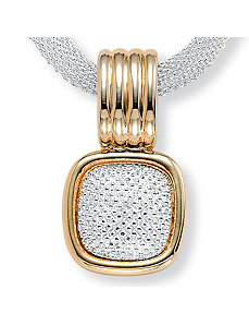 Tutone Mesh Necklace by PalmBeach Jewelry