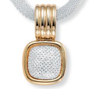 Tutone Mesh Necklace