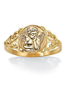 10k Angel Ring by PalmBeach Jewelry