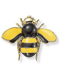 Bumblebee Crystal Accent Pin by PalmBeach Jewelry