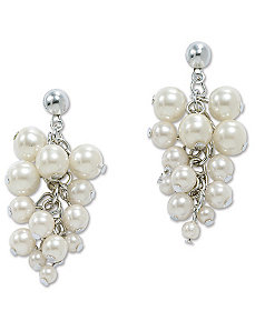 Simulated Pearl Earrings by PalmBeach Jewelry