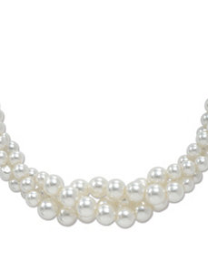 "Simulated Pearl Necklace 18"" by PalmBeach Jewelry"