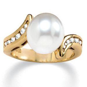 Sim. Pearl/Cubic Zirconia Ring