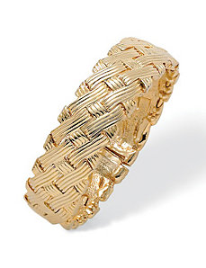 Basket weave Bangle by PalmBeach Jewelry