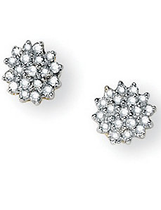 3/8 Diamond Cluster Earrings by PalmBeach Jewelry