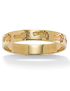 10k Gold Footprints Ring by PalmBeach Jewelry