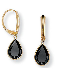 Onyx Earrings by PalmBeach Jewelry