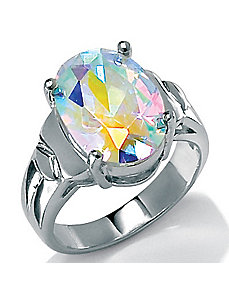 Aurora Borealis Ring by PalmBeach Jewelry