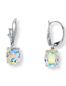 Aurora Borealis Earrings by PalmBeach Jewelry