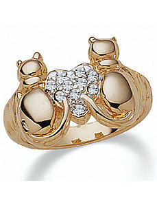 Crystal Cat Ring by PalmBeach Jewelry