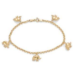 10k Charm Bracelet