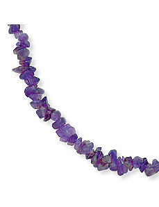 "Amethyst Nugget Necklace 18"" by PalmBeach Jewelry"