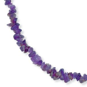 Amethyst Nugget Necklace 18""