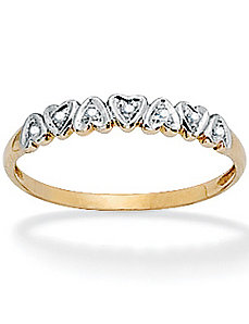 10k Heart Band by PalmBeach Jewelry
