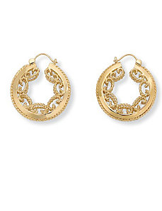 Scroll Hoop Earrings by PalmBeach Jewelry