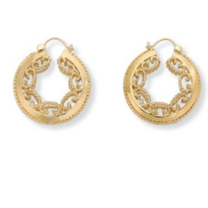 Scroll Hoop Earrings