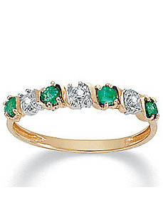 Emerald 10k Ring by PalmBeach Jewelry