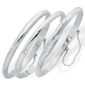 Set of Three Bangle Bracelets