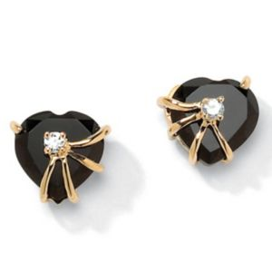 Onyx Heart Earrings