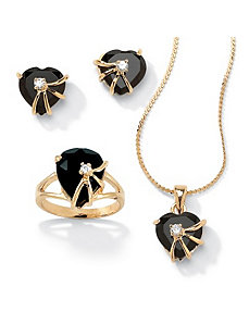 3-Piece Onyx Set by PalmBeach Jewelry