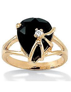 Onyx Heart Ring by PalmBeach Jewelry