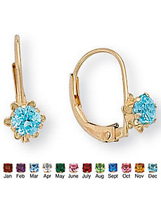 Genuine Birthstone Earrings by PalmBeach Jewelry