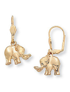 Elephant Pierced Earrings by PalmBeach Jewelry
