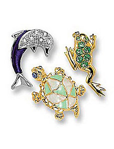 3-Piece Animal Set by PalmBeach Jewelry