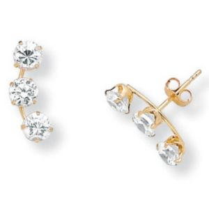 Cubic Zirconia 14k Gold Earrings