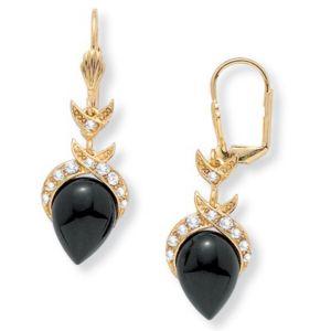 Onyx Pear-Shaped Earrings