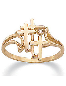 Triple Cross Diamond Accent Ring by PalmBeach Jewelry