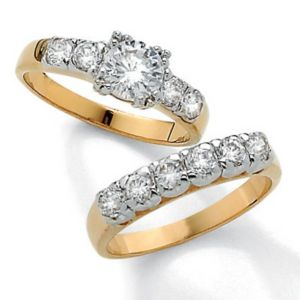 Cubic Zirconia Wedding Set