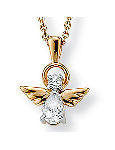 Cubic Zirconia Angel Pendant by PalmBeach Jewelry