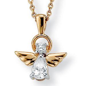 Cubic Zirconia Angel Pendant