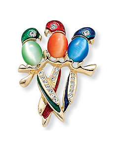 Parrot Pin by PalmBeach Jewelry