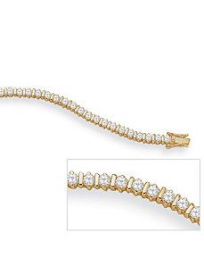 Cubic Zirconia 18k/SS Tennis Bracelet 8