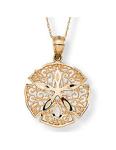 Sand Dollar Pendant & Chain by PalmBeach Jewelry